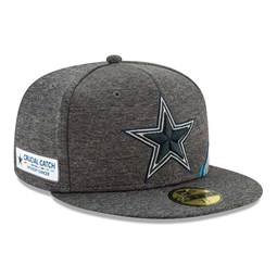 Casquette 59FIFTY grise Crucial Catch des Cowboys de Dallas