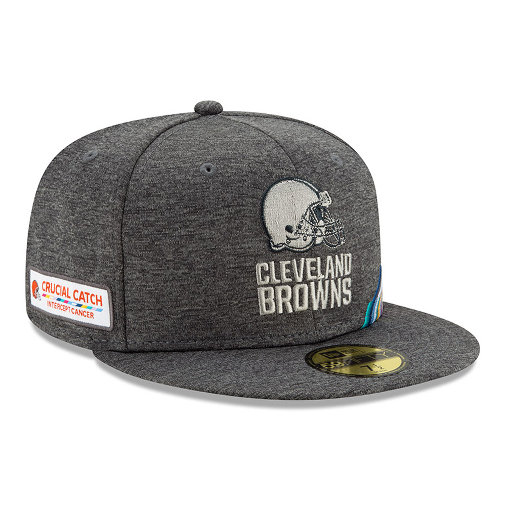 Cappellino 59FIFTY Cleveland Browns Crucial Catch grigio