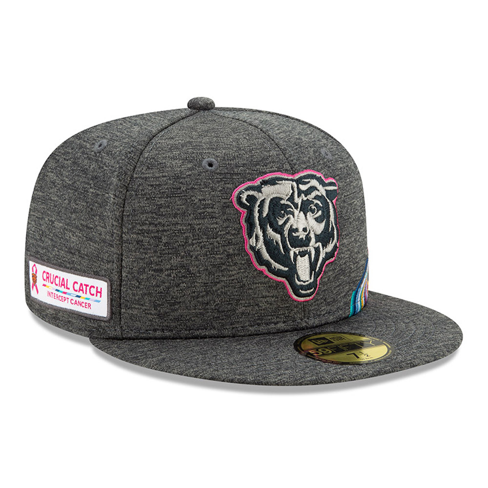Graue Crucial Catch 59FIFTY-Kappe der Chicago Bears