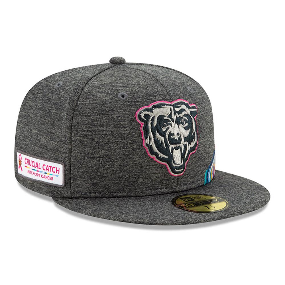 Casquette 59FIFTY grise Crucial Catch des Bears de Chicago
