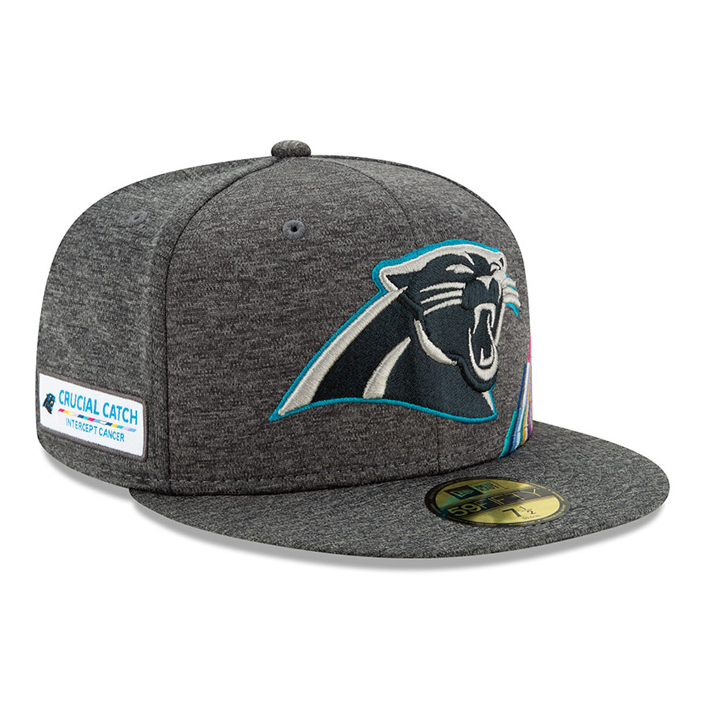Cappellino 59FIFTY Carolina Panthers Crucial Catch grigio