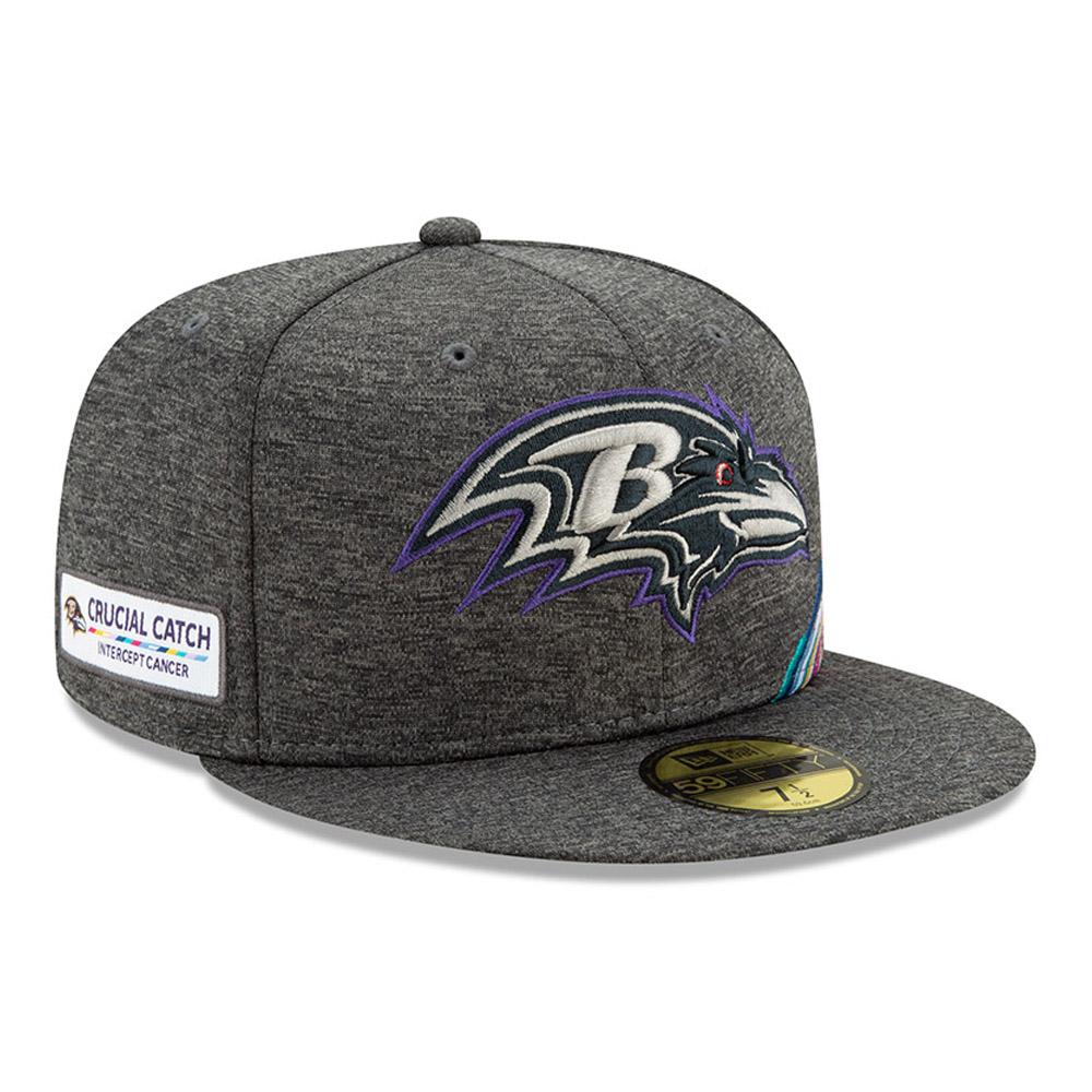 Gorra Baltimore Ravens Crucial Catch 59FIFTY, gris