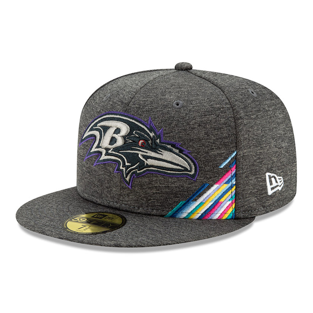 Baltimore Ravens Crucial Catch Grey 59FIFTY Cap