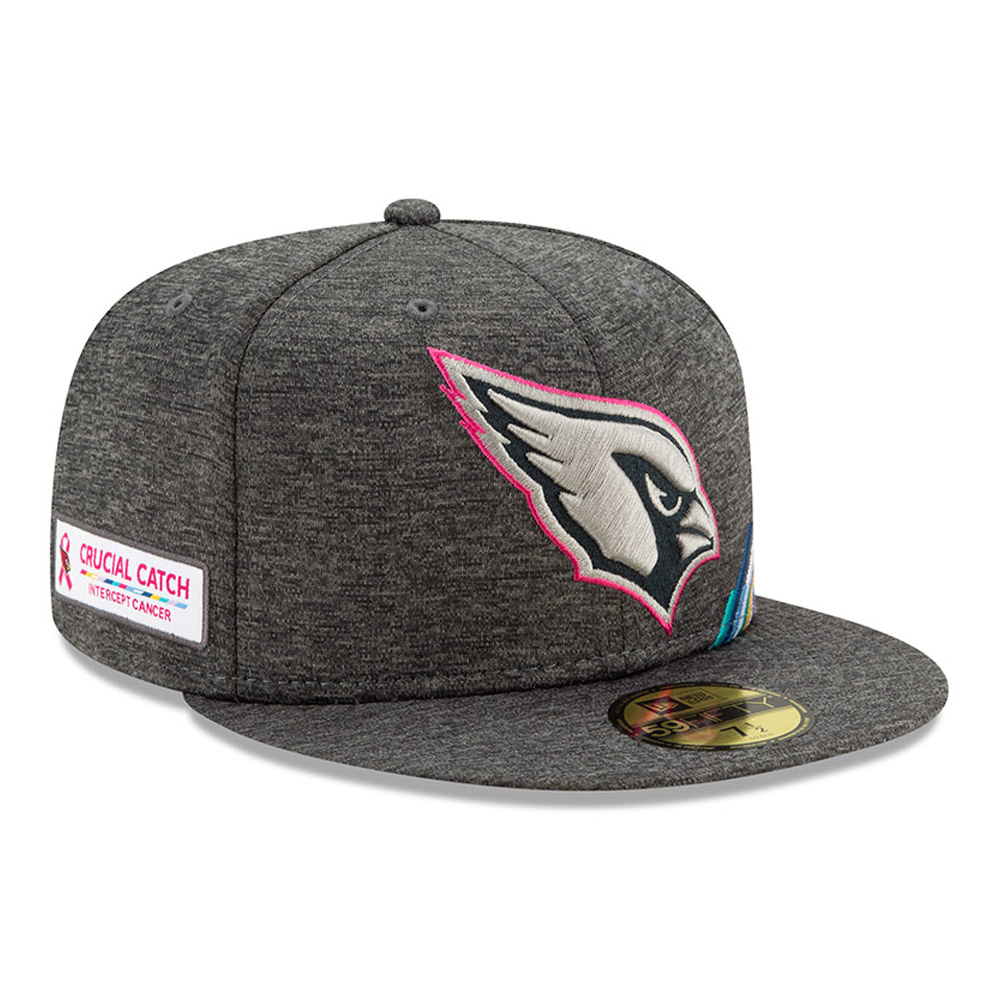 Casquette 59FIFTY grise  Crucial Catch des Cardinals de l'Arizona