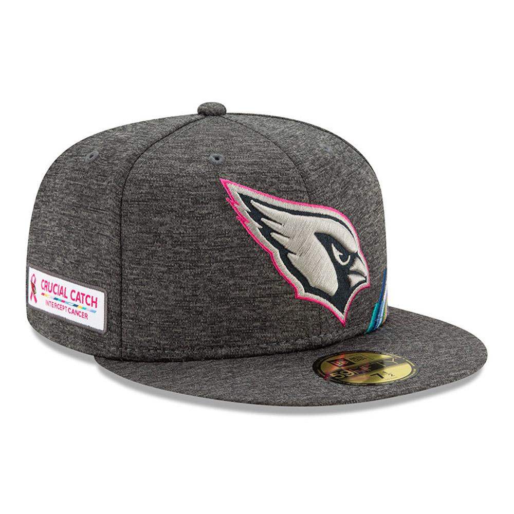 Gorra Arizona Cardinals Crucial Catch 59FIFTY, gris