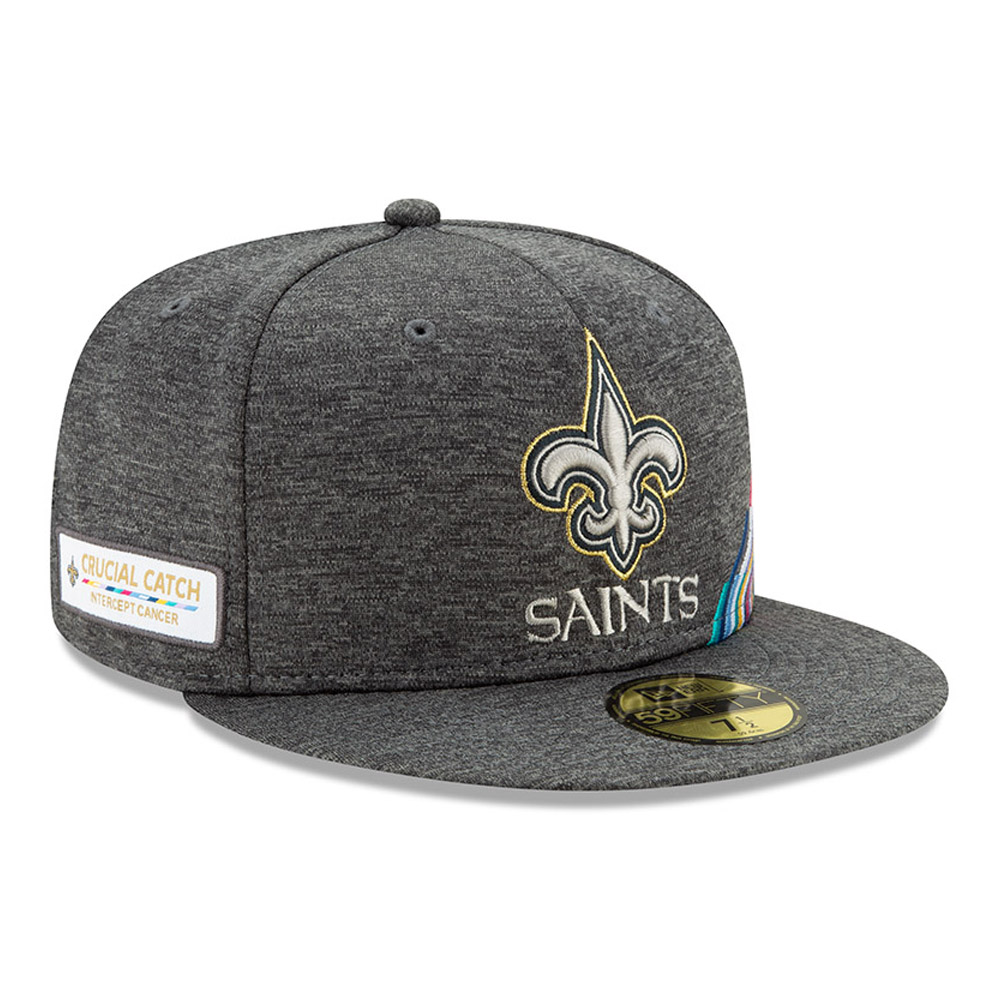 New Orleans Saints Crucial Catch Grey 59FIFTY Cap
