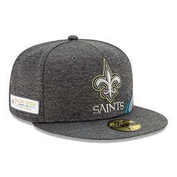 Gorra New Orleans Saints Crucial Catch 59FIFTY, gris