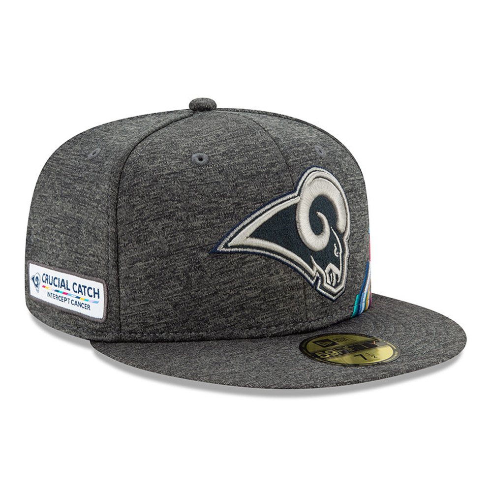 Los Angeles Rams Crucial Catch Grey 59FIFTY Cap
