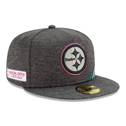 Gorra Pittsburgh Steelers Crucial Catch 59FIFTY, gris