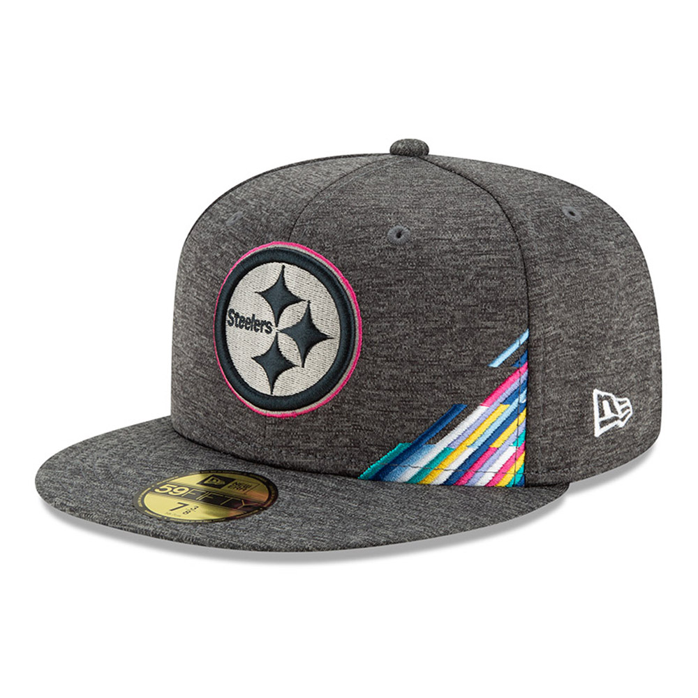 Pittsburgh Steelers Crucial Catch Grey 59FIFTY Cap