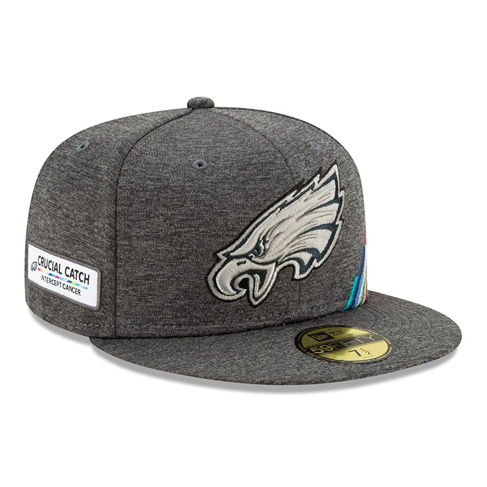 Philadelphia Eagles Crucial Catch Grey 59FIFTY Cap