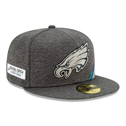 Casquette 59FIFTY grise Crucial Catch des Eagles de Philadelphie