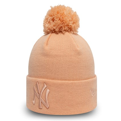 New York Yankees Womens Pink Bobble Knit