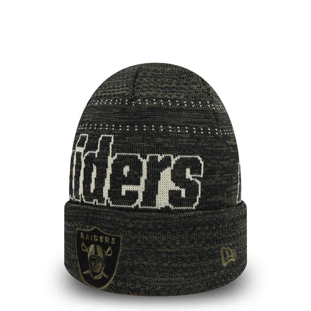 Oakland Raiders Cuff-Beanie mit Spezialpassform in Schwarz