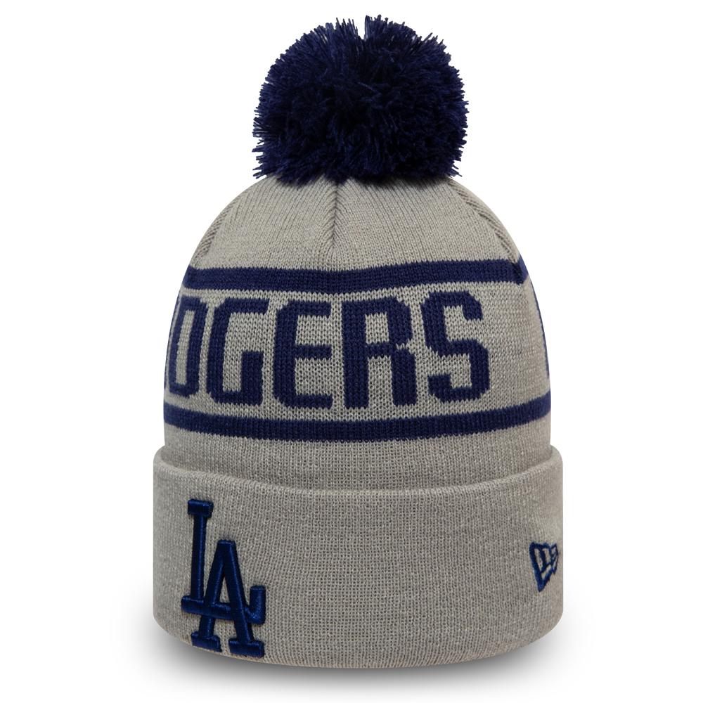 Los Angeles Dodgers – Bommelbeanie in Grau