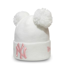 New York Yankees Kids White Double Bobble Knit