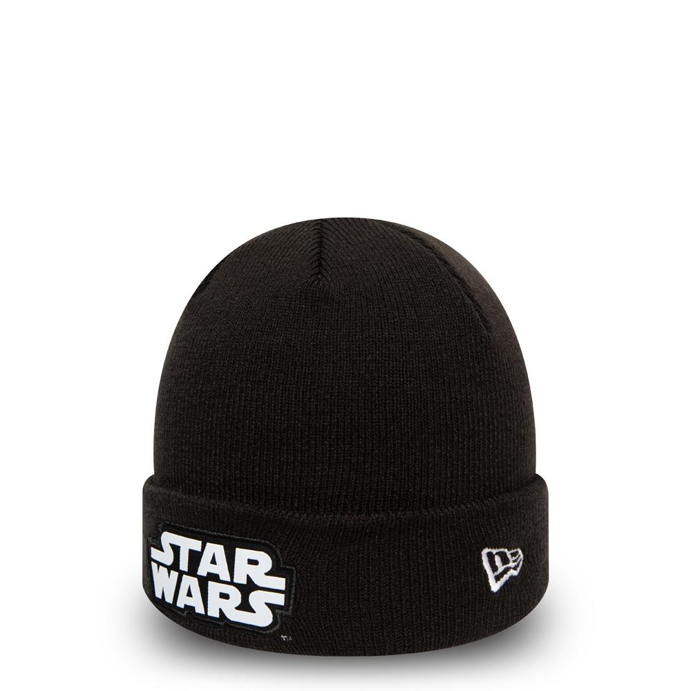 Berretto di maglia con risvolto Star Wars Character nero bambino