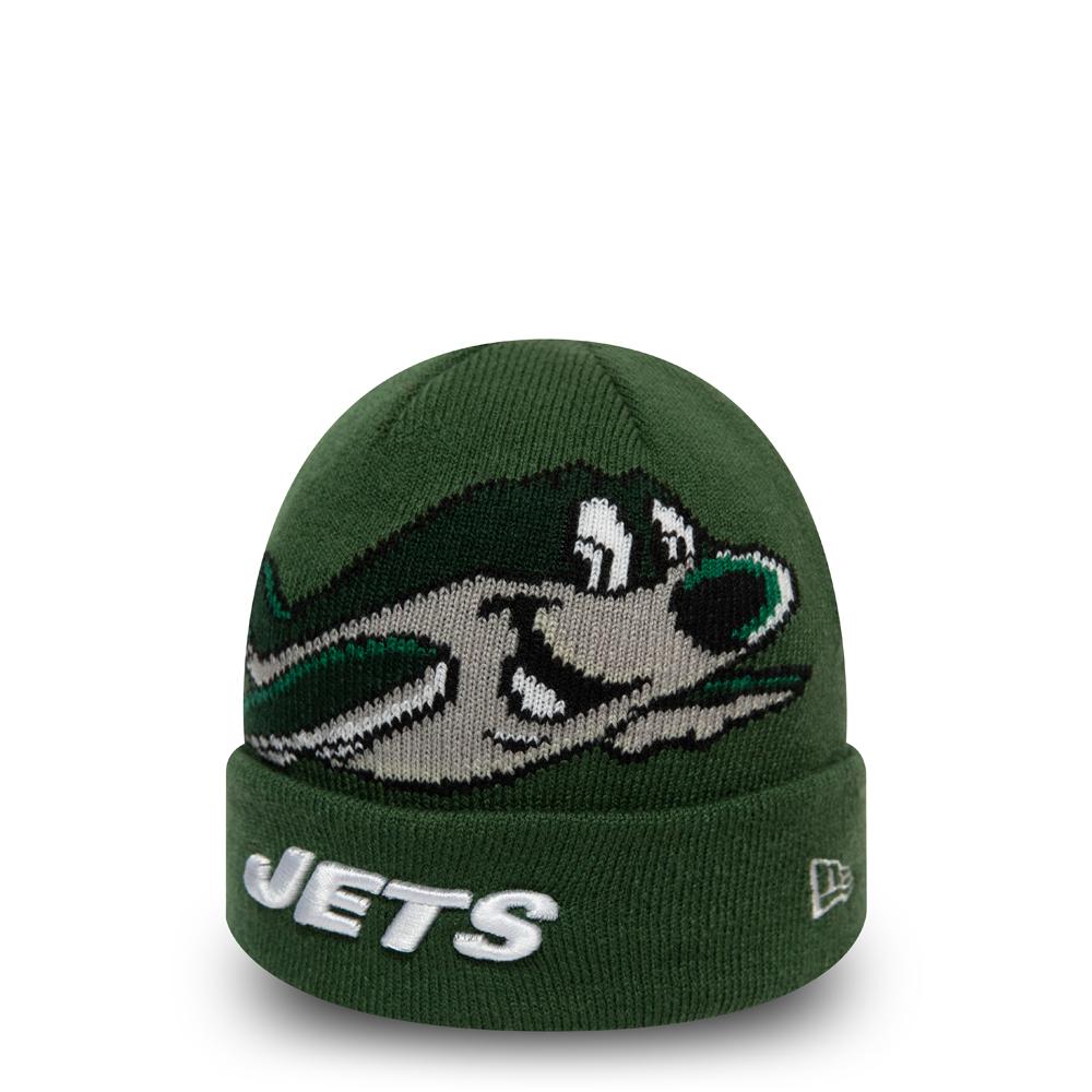 Berretto di maglia con risvolto New York Jets Mascot verde bambino