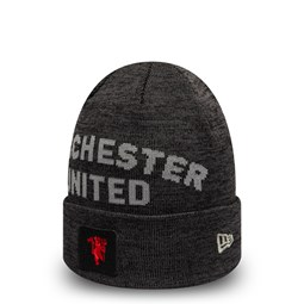 Gorro de punto con vuelta Manchester United Scripted