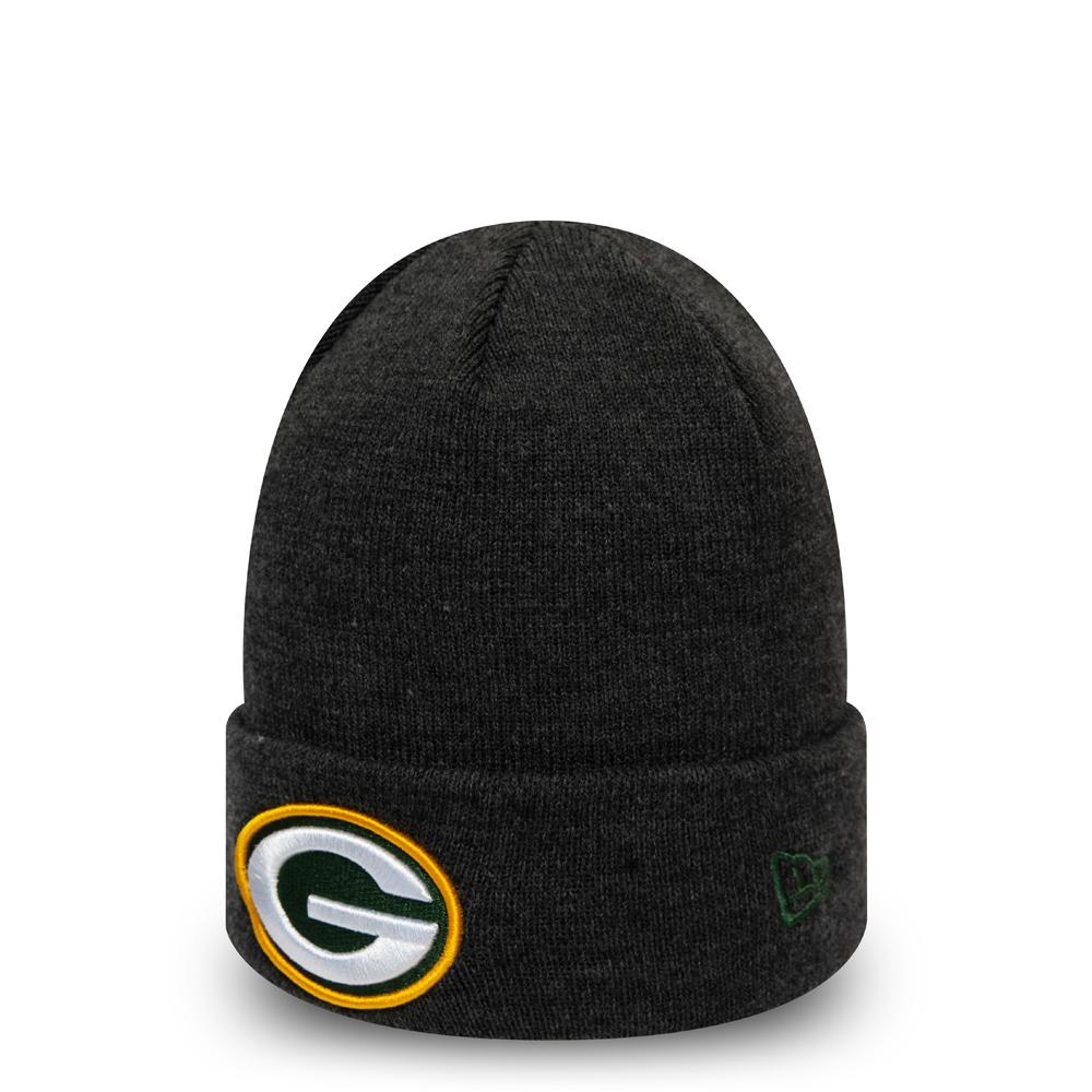 Grau melierte Essential Cuff-Beanie der Green Bay Packers