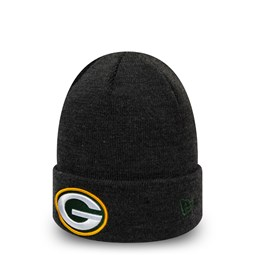 Bonnet à revers Essential gris chiné des Green Bay Packers