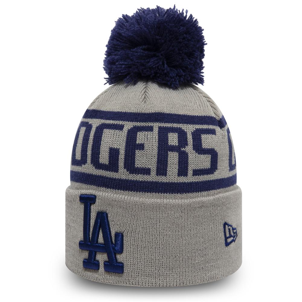 Bonnet à pompon gris Los Angeles Dodgers pour enfant