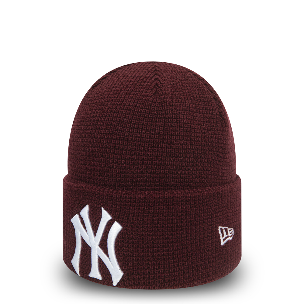 Rote Essential Cuff-Beanie der New York Yankees für Damen
