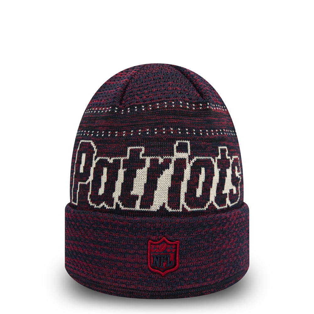 New England Patriots Engineered Fit Navy Cuff Knit
