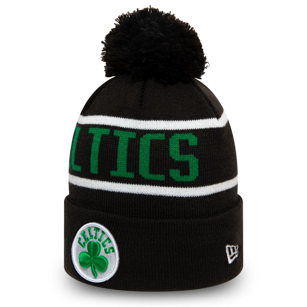 Bonnet à pompon des Boston Celtics noir