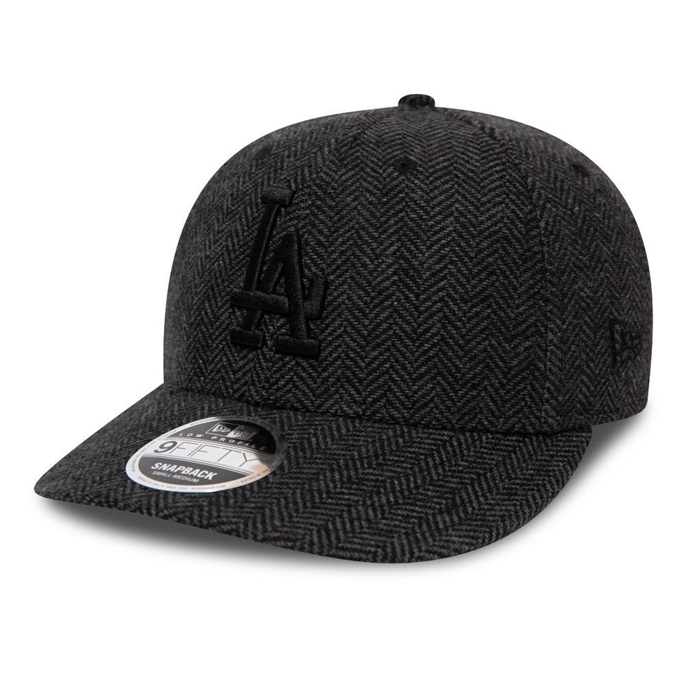 Gorra Los Angeles Dodgers 9FIFTY de bajo perfil de tweed, negro