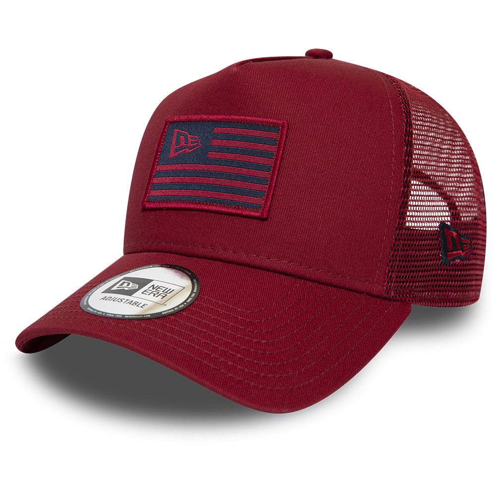 New Era - Casquette Trucker Flag rouge