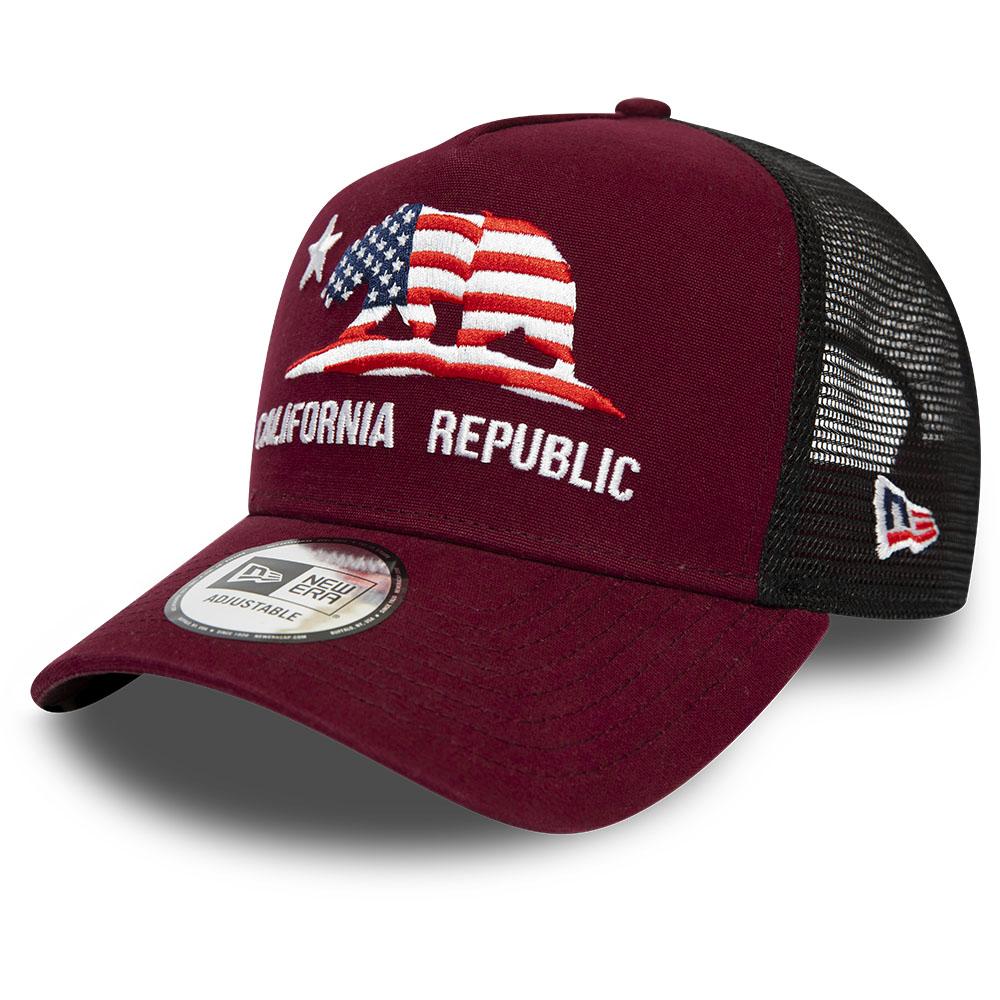 New Era – California – Rote Trucker-Kappe