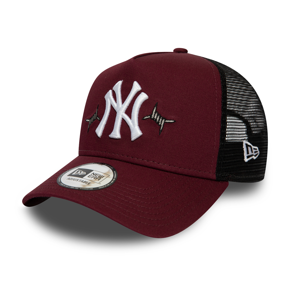 Casquette Trucker marron tissée des New York Yankees