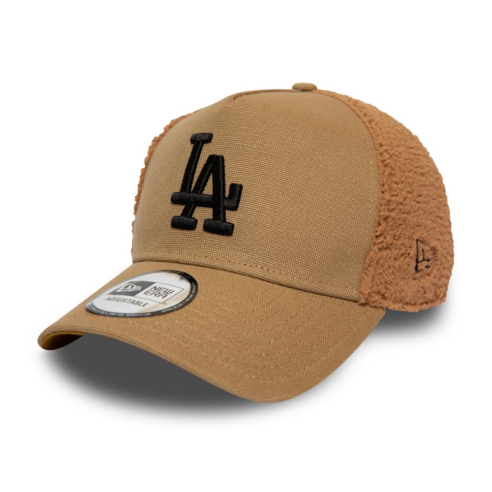 Casquette Trucker Los Angeles Dodgers sherpa crème