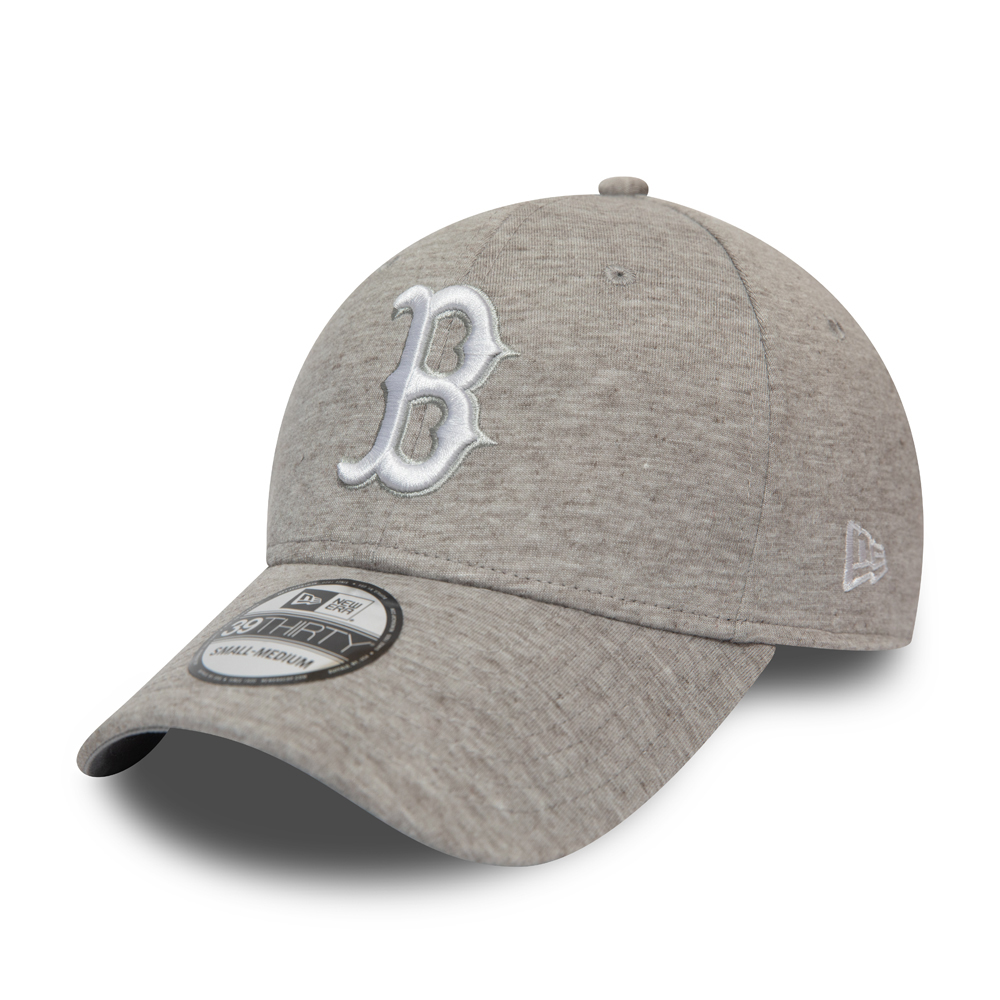 Casquette 39THIRTY grise Jersey Essential des Red Sox de Boston