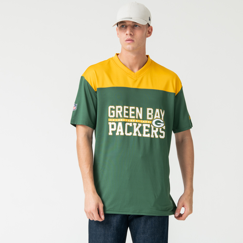 Green Bay Packers Stacked Wordmark Oversized Tee