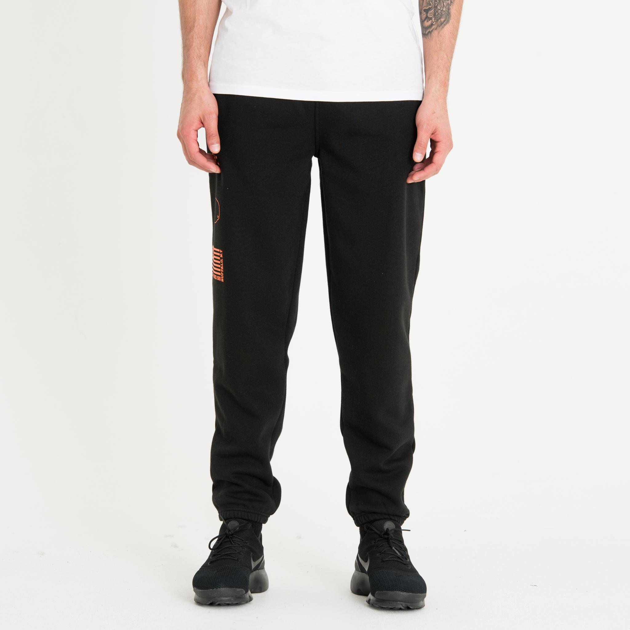 Pantalones de chándarl New Era Graphic, negro