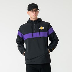 Cortavientos Los Angeles Lakers Striped, negro