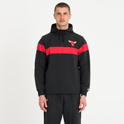 Chicago Bulls Striped Black Windbreaker