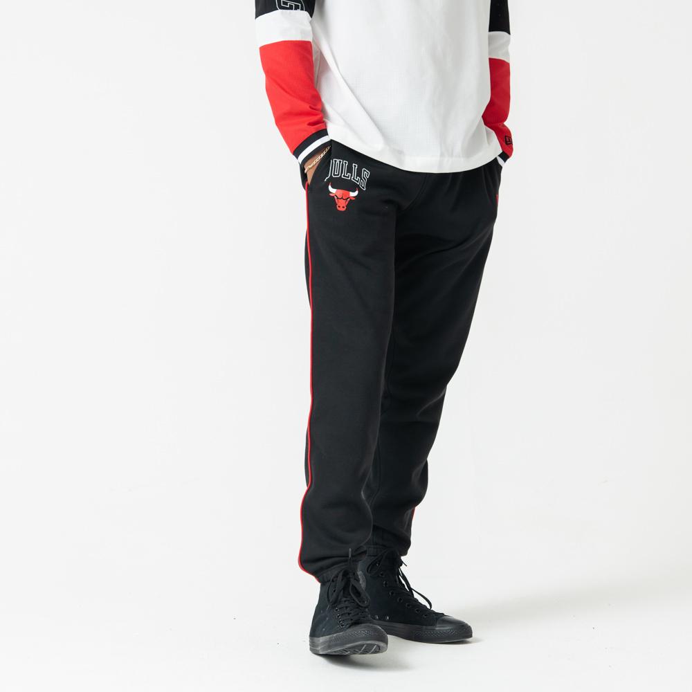 Schwarz paspellierte Jogginghosen der Chicago Bulls
