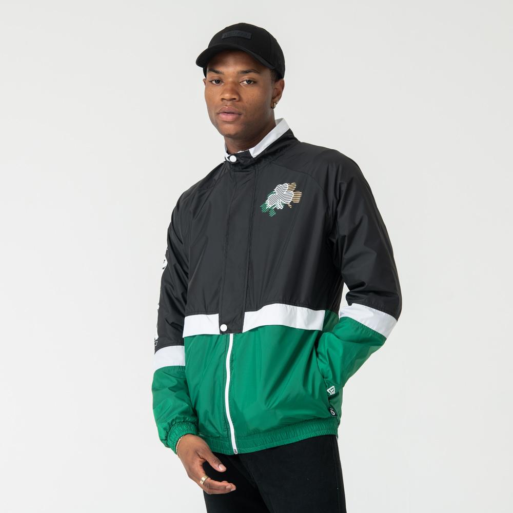 Veste d'entraînement à empiècements des Boston Celtics colour block