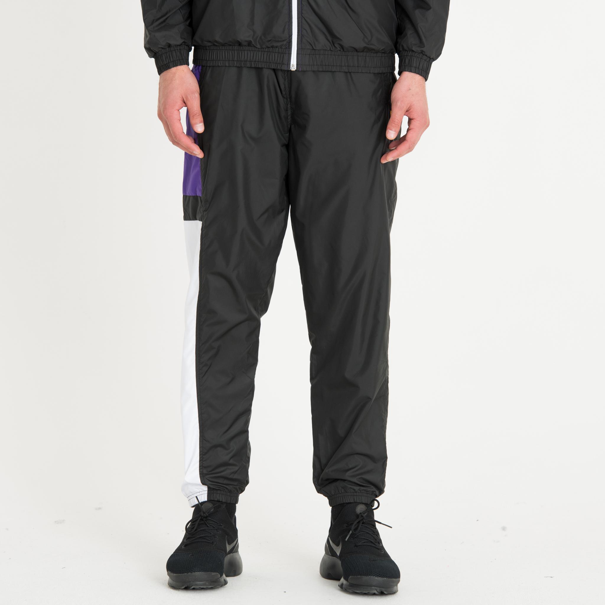 Pantalon de survêtement colour block noir, violet et blanc New Era