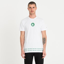 Weißes T-Shirt der Boston Celtics in Wickeloptik