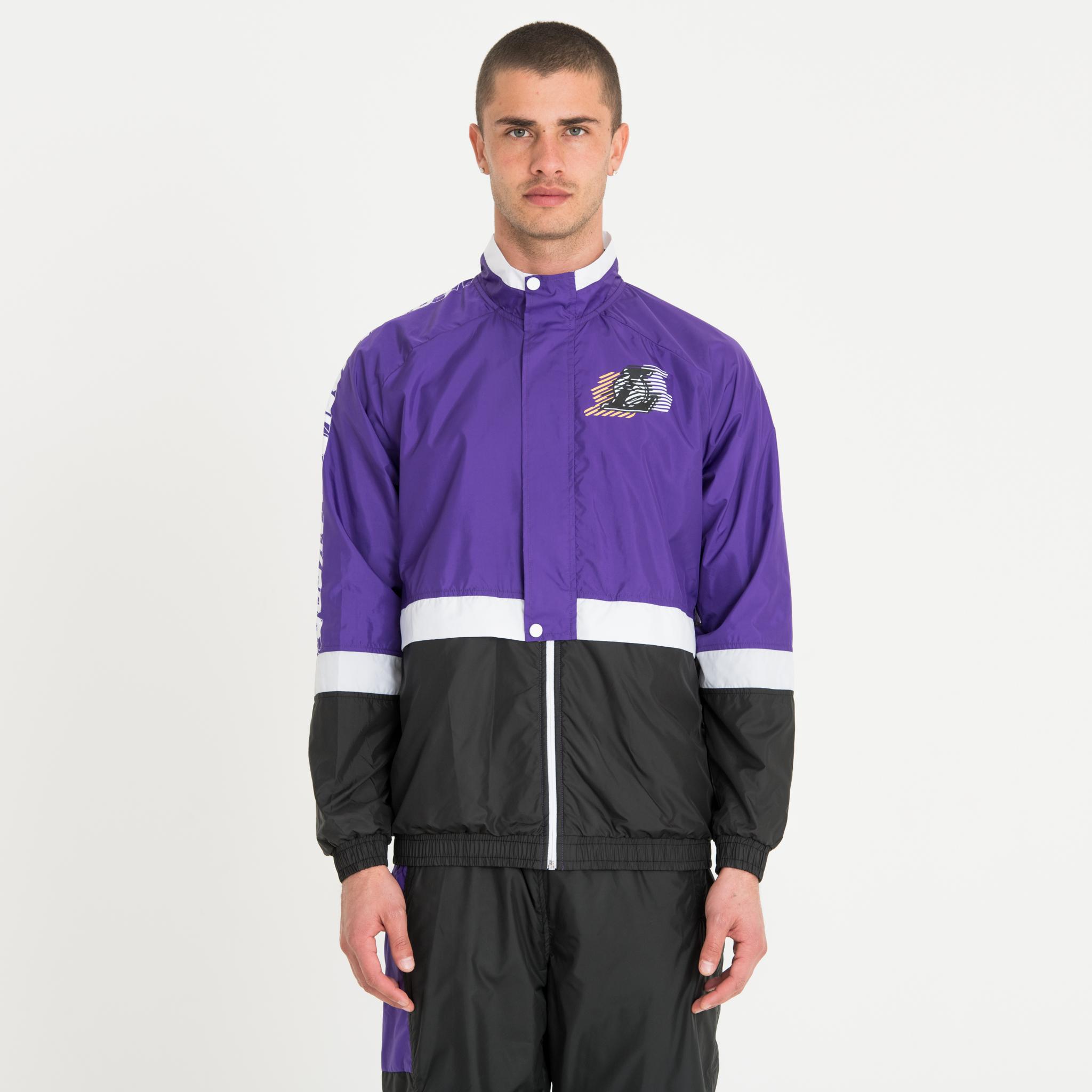 Trainingsjacke der Los Angeles Lakers mit Colour-Block