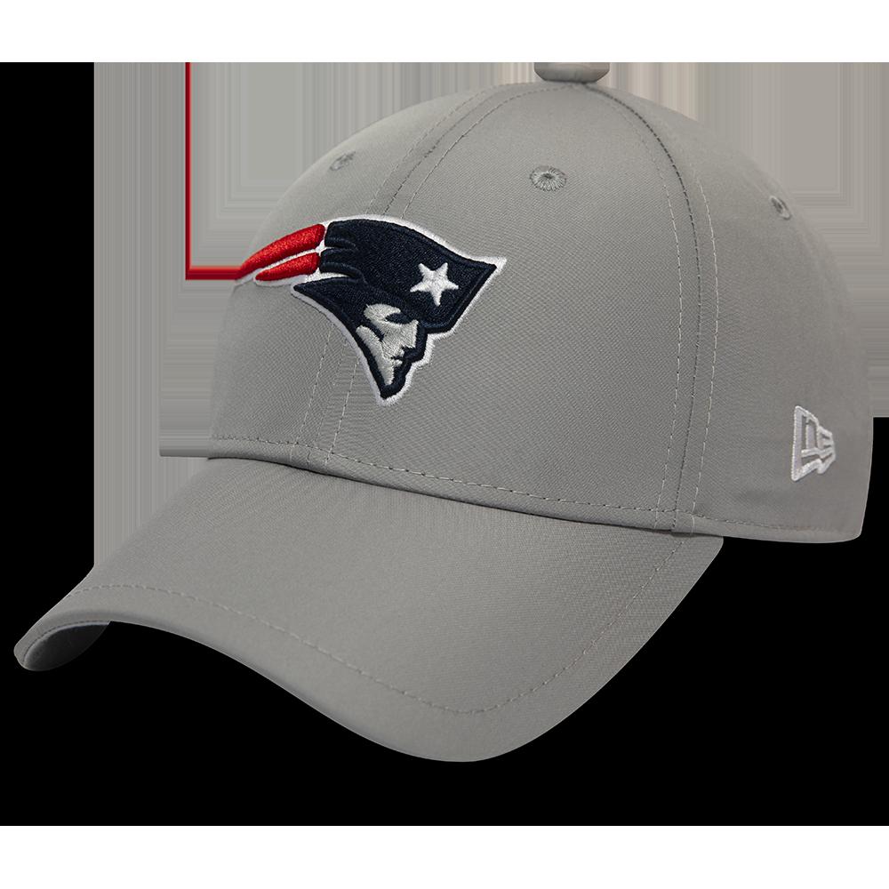 Graue 9FORTY-Kappe der New England Patriots mit Winter-Schriftzug