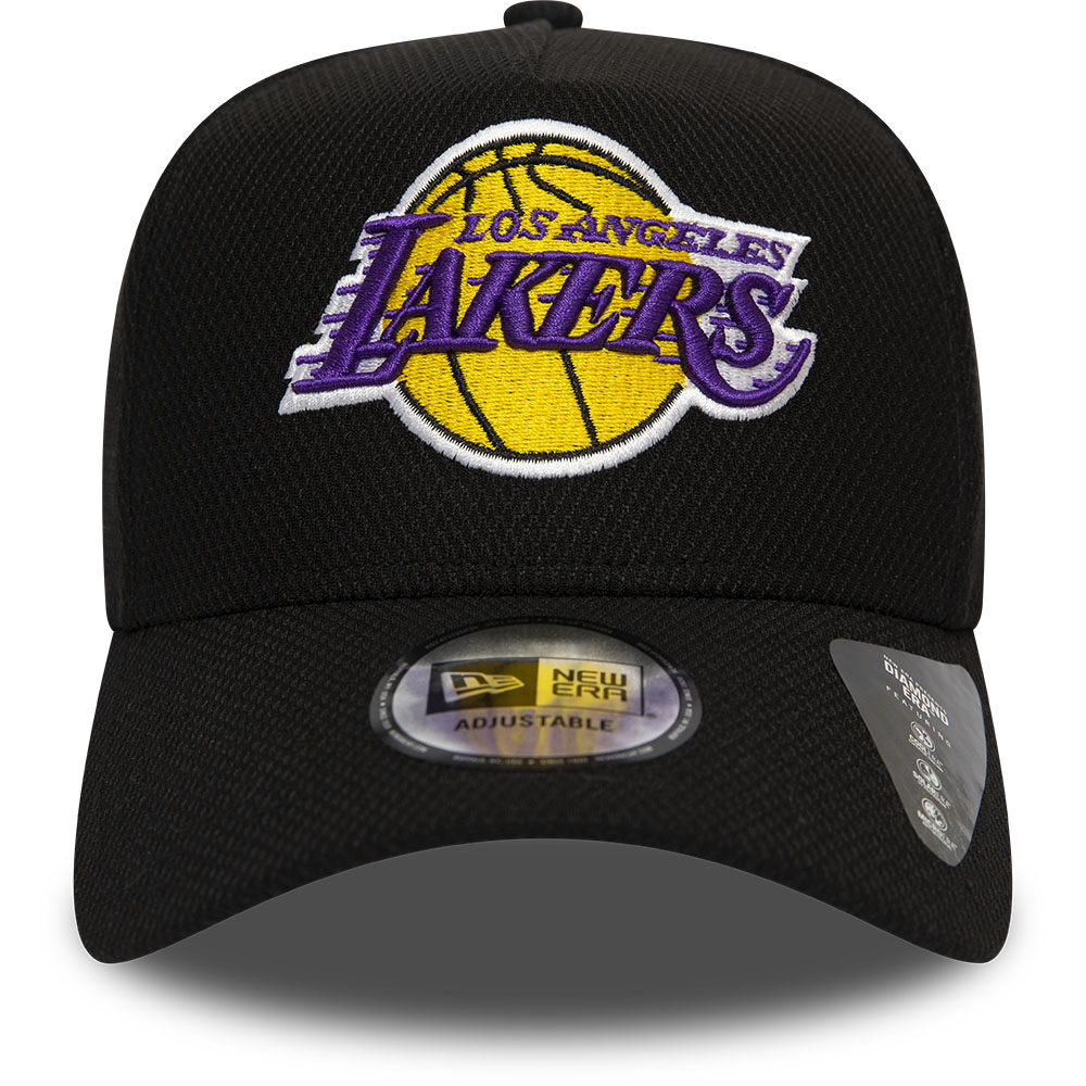 Los Angeles Lakers Black Base A Frame Trucker Cap