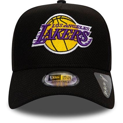 Los Angeles Lakers New Era 9Forty A-Frame Trucker Cap