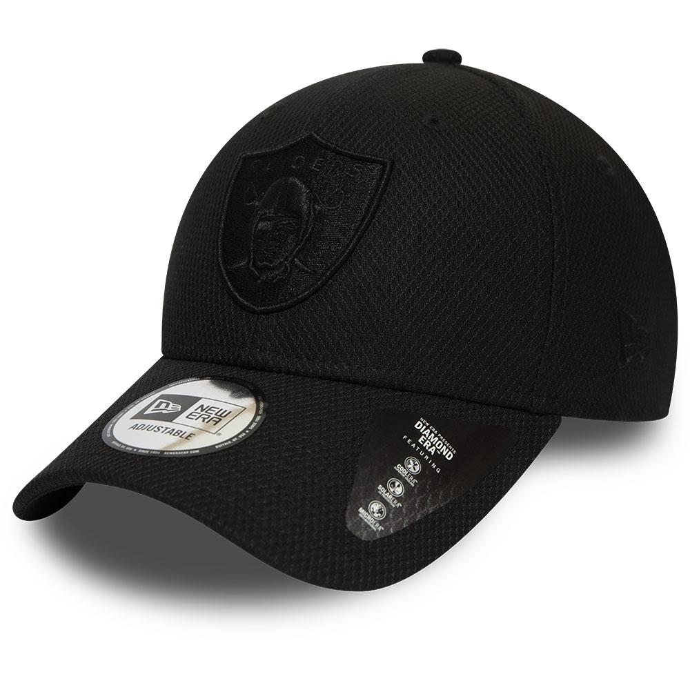 Gorra Oakland Raiders 9FORTY, negro monocromático