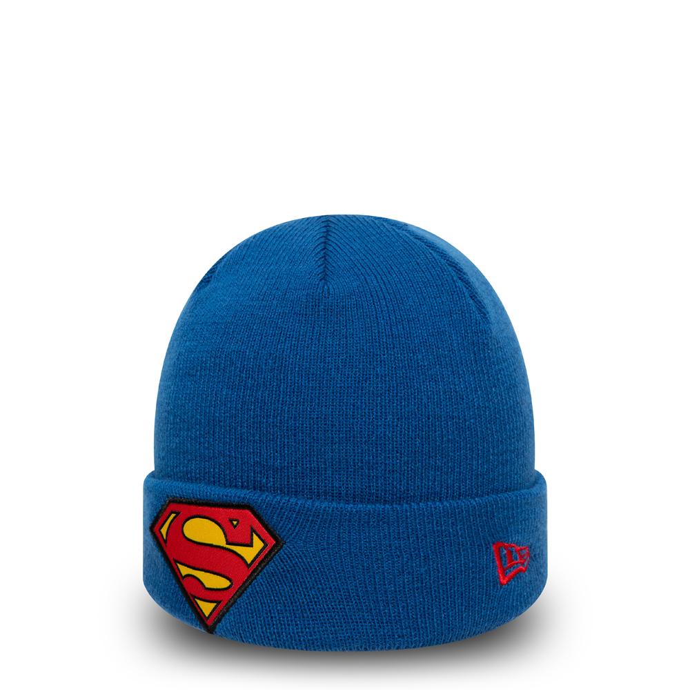 Bonnet à revers bleu du personnage de Superman pour enfants