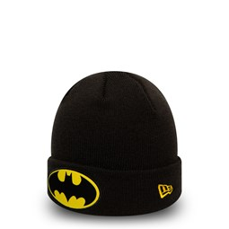 Batman Character Kids Black Cuff Knit